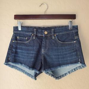 Blank NYC Dark Wash Cutoff Denim Shorts